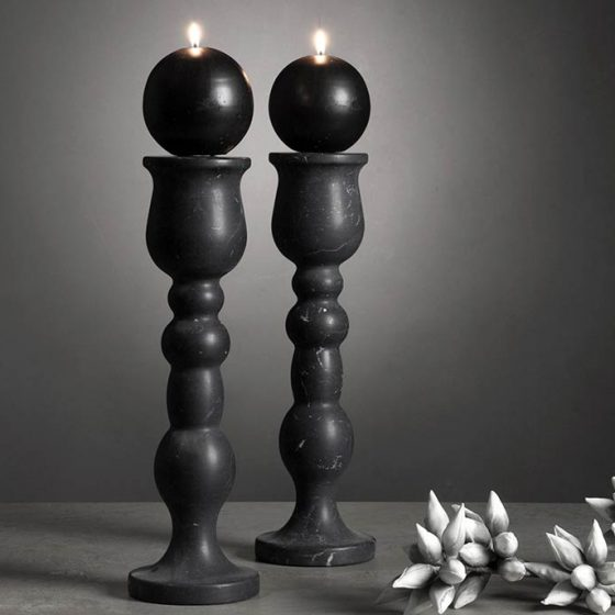 candelabri in marmo